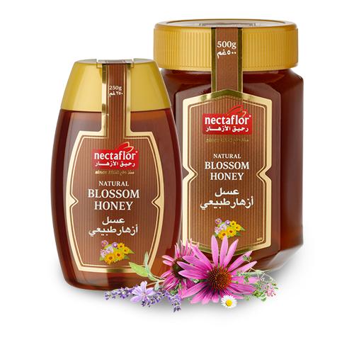 عسل أزهار طبيعي: بلون العنبر ومتوازن بشكل جيد مع رائحة فوّاحة