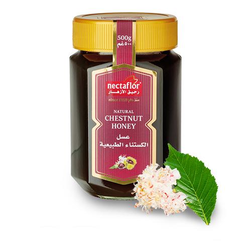 عسل الكستناء الطبيعية، داكن اللون